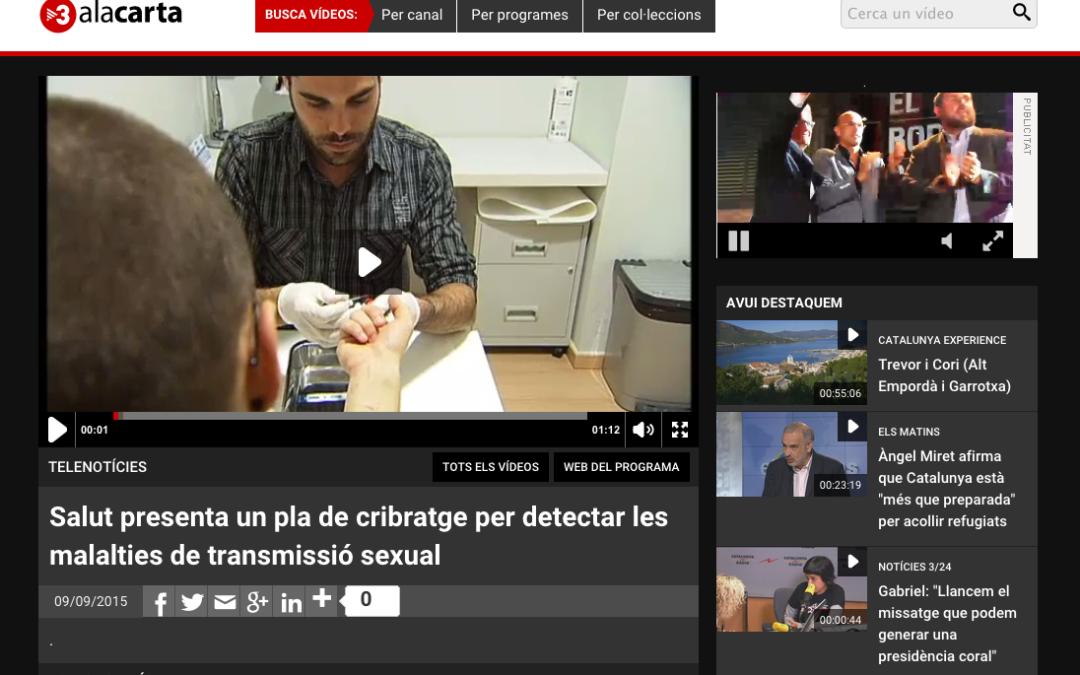 TV3: Salut presenta un pla de cribratge per detectar les malalties de transmissió sexual
