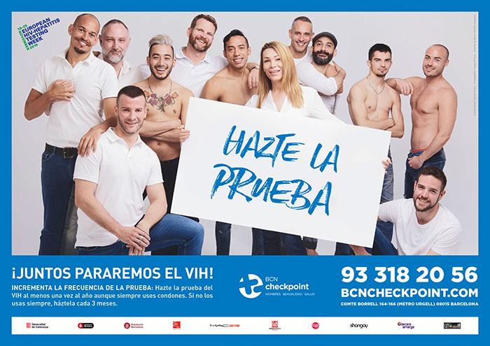 BCN Checkpoint presenta una nueva campaña para promover el diagnóstico precoz del VIH en el colectivo gay, en el marco de la Semana Europea de la Prueba