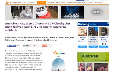 CÁSCARA AMARGA: Barcelona Gay Men's Chorus y BCN Checkpoint unen fuerzas contra el VIH con un concierto solidario