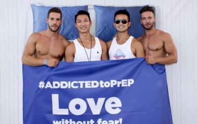 Éxito de la campaña a favor de la PrEP de BCN Checkpoint y ADDICTED en la fiesta del parque acuático del Circuit Festival